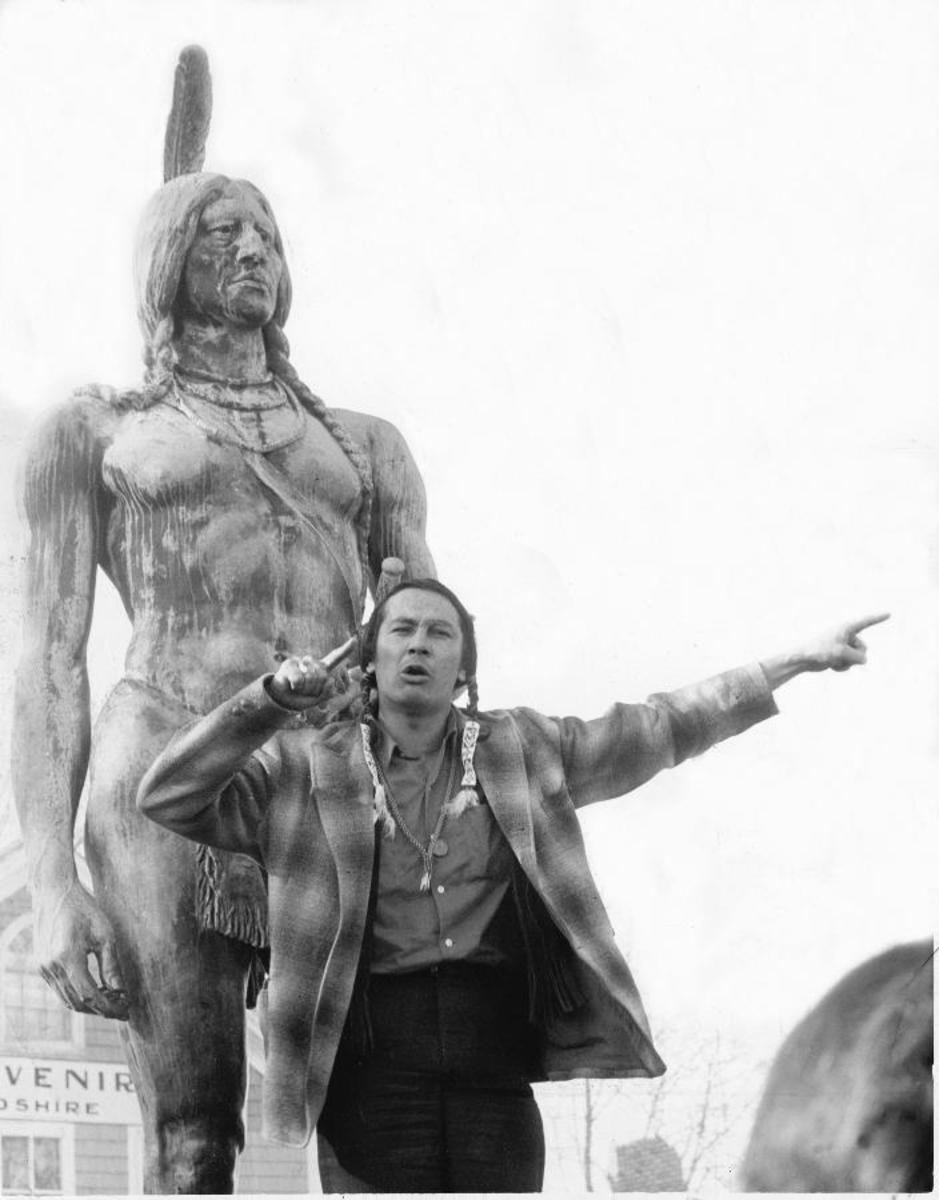 Russell Means excites the crowd