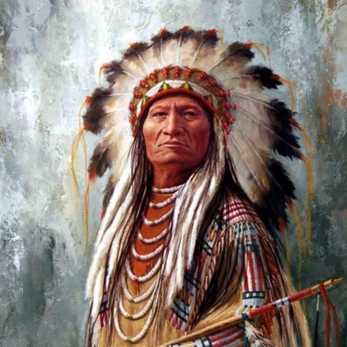 Painting of Sitting Bull