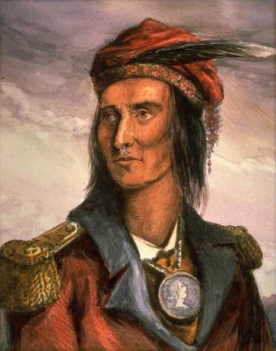 Benson Lossing's engraving of Tecumseh