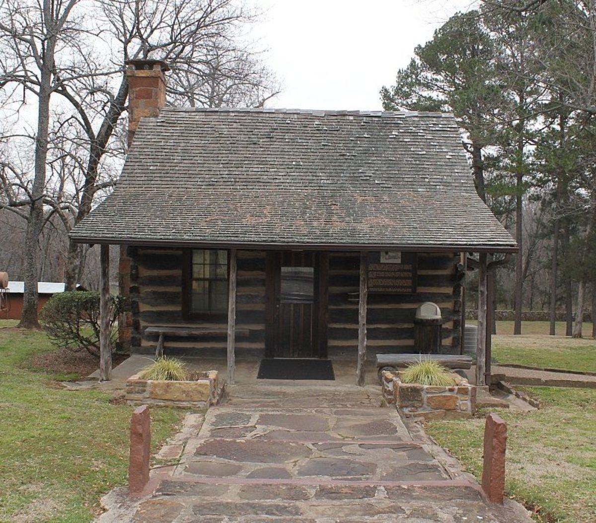 Sequoyah's cabin in Oklahoma