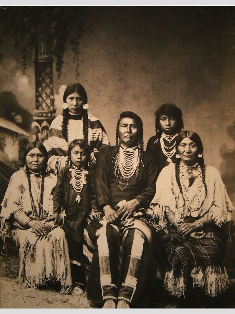 Photo of Chief Joseph and his family