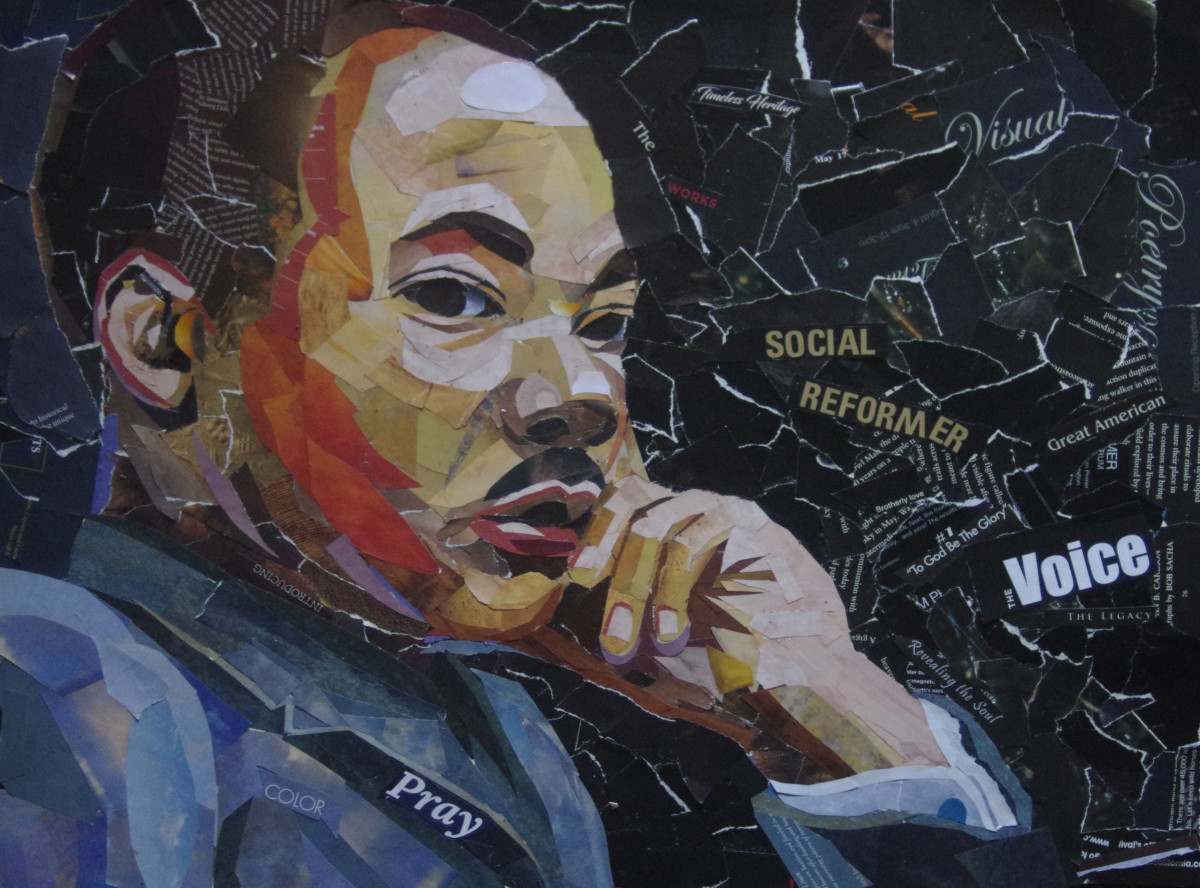 Collage of Dr. Martin Luther King, Jr.