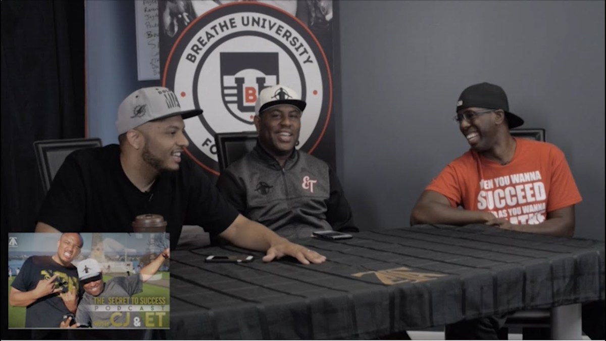 Secrets to Success crew (CJ Quinn, Eric Thomas, Karl Phillips)
