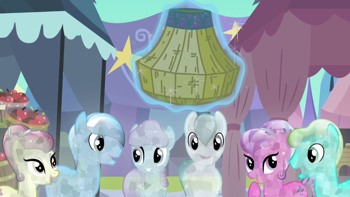 Crystal Ponies from the Crystal Empire.