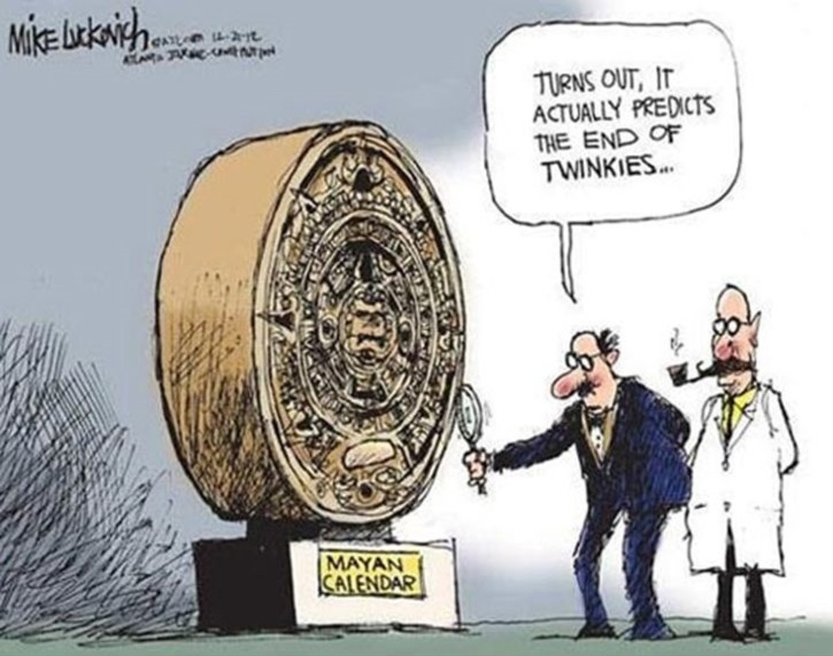 Cartoon on the Mayan calendar