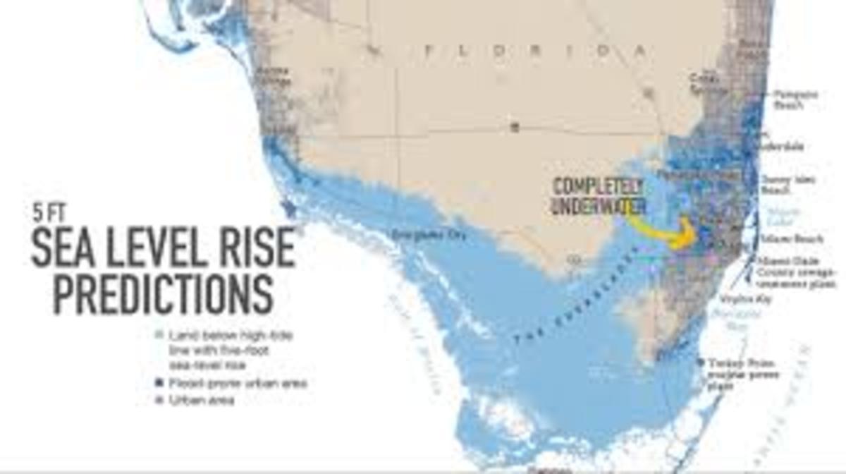 Miami, Fl projected Sea Level 2100