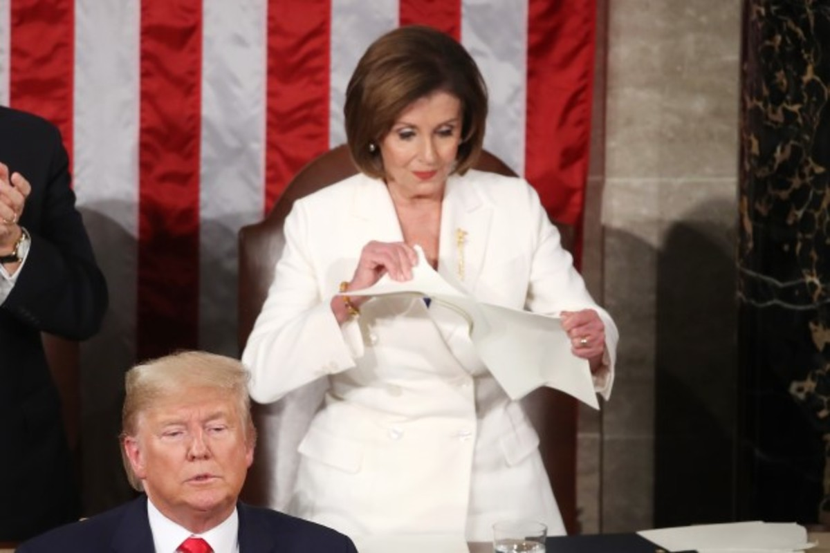 The speech or the Constitution--Pelosi shreds them both.