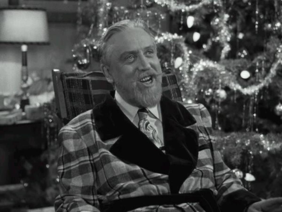Monty Woolley playing Sheridan Whiteside