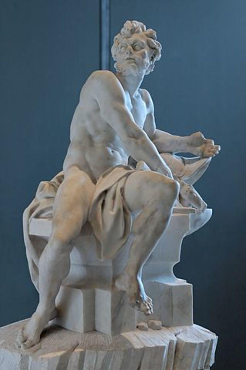Sculpture of Hephaestus in Louvre Museum