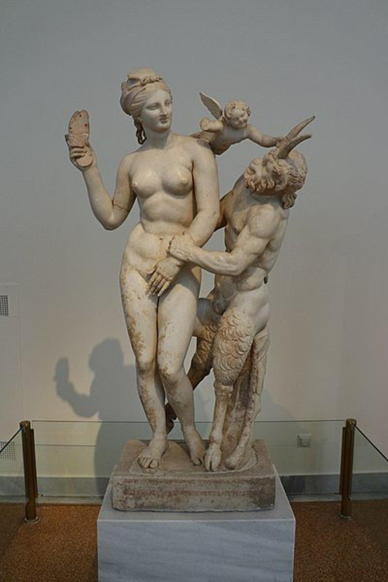 Statue of Aphrodite, Pan and Eros