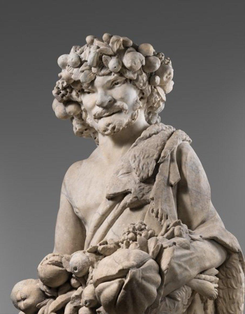 Sculpture of the god Priapus.