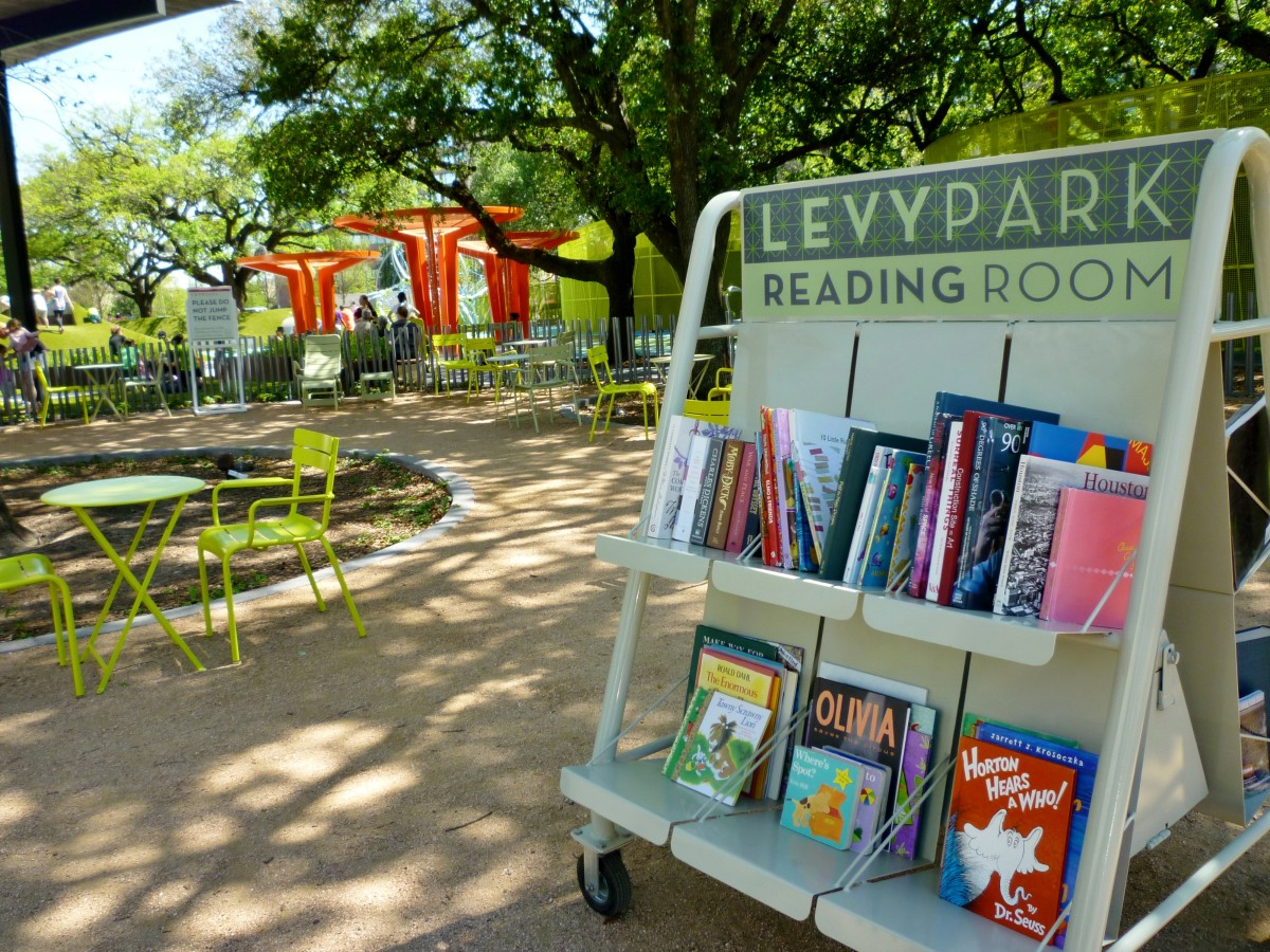 Outdoor Reading Room in Levy Park
