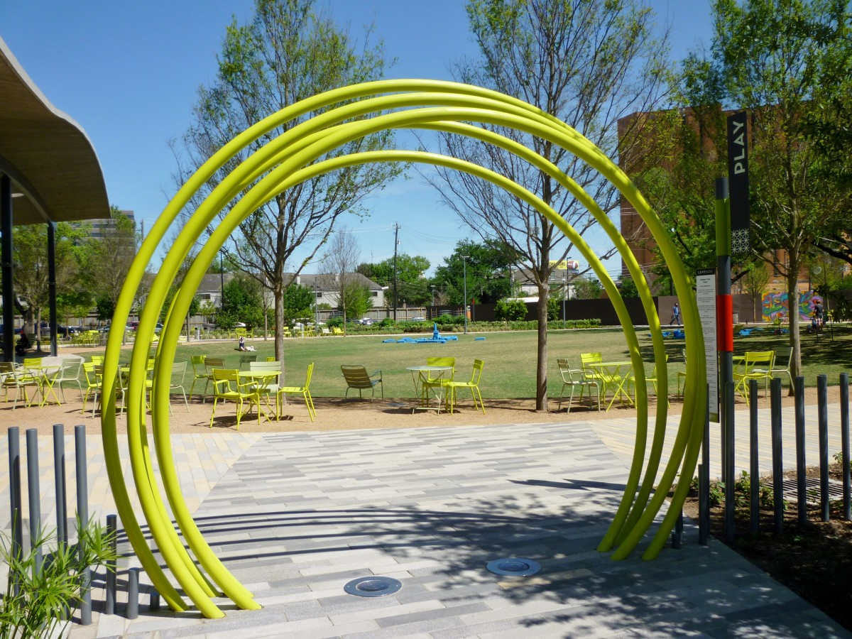 View of event lawn space when exiting children's play area