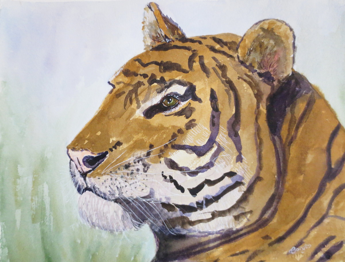 Watercolor Paint Tricks: How to Add Whiskers to Animal Portraits