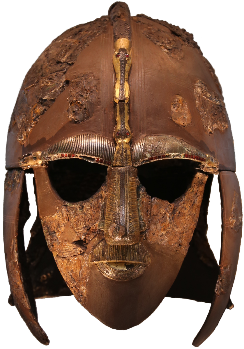 The Sutton Hoo Helmet. How did the Saxons arrive? Through peaceful migration, or through invasion?