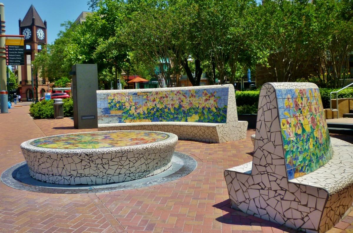 Fountain & Benches by Malou Flato