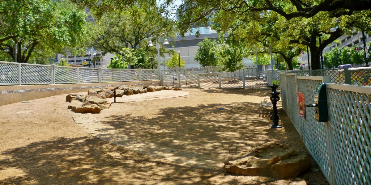 View inside of the dog park