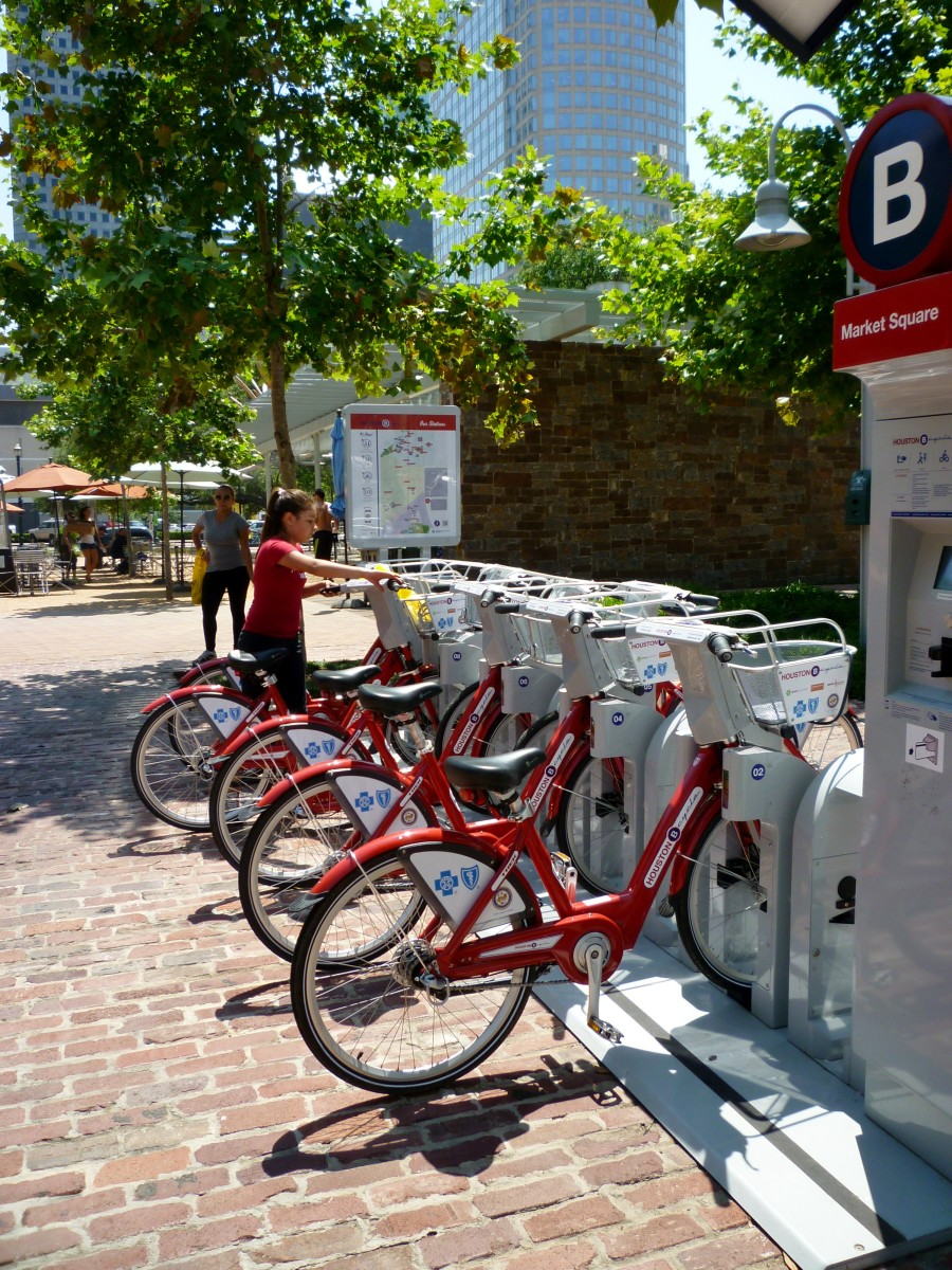 Bikes can be rented in the park
