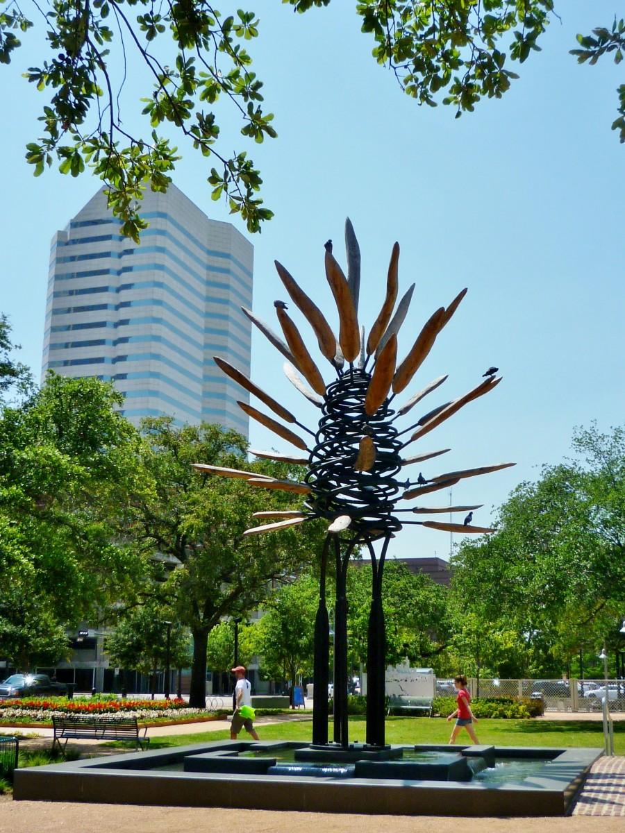 James Surls Sculpture in Market Square Park