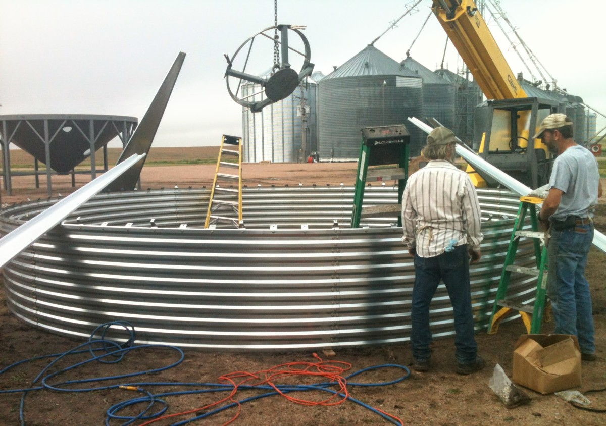 How to Build a Grain Bin--First Ring of Sheets: An Illustrated Guide