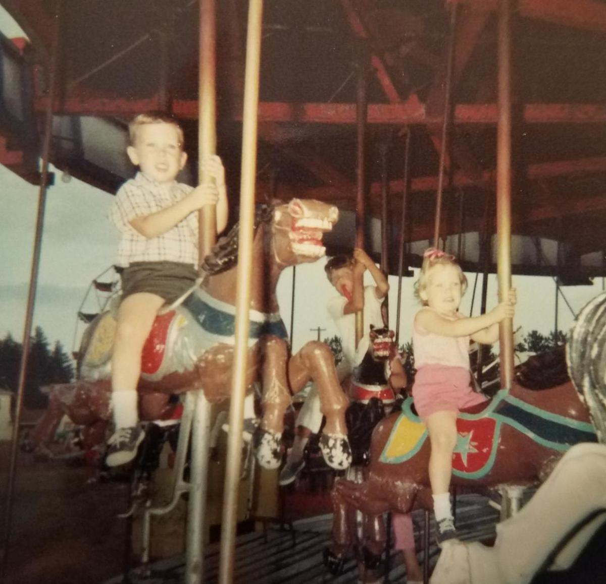 A favorite childhood memory: My brother and I riding the carousel at Scovill Zoo about 1969.