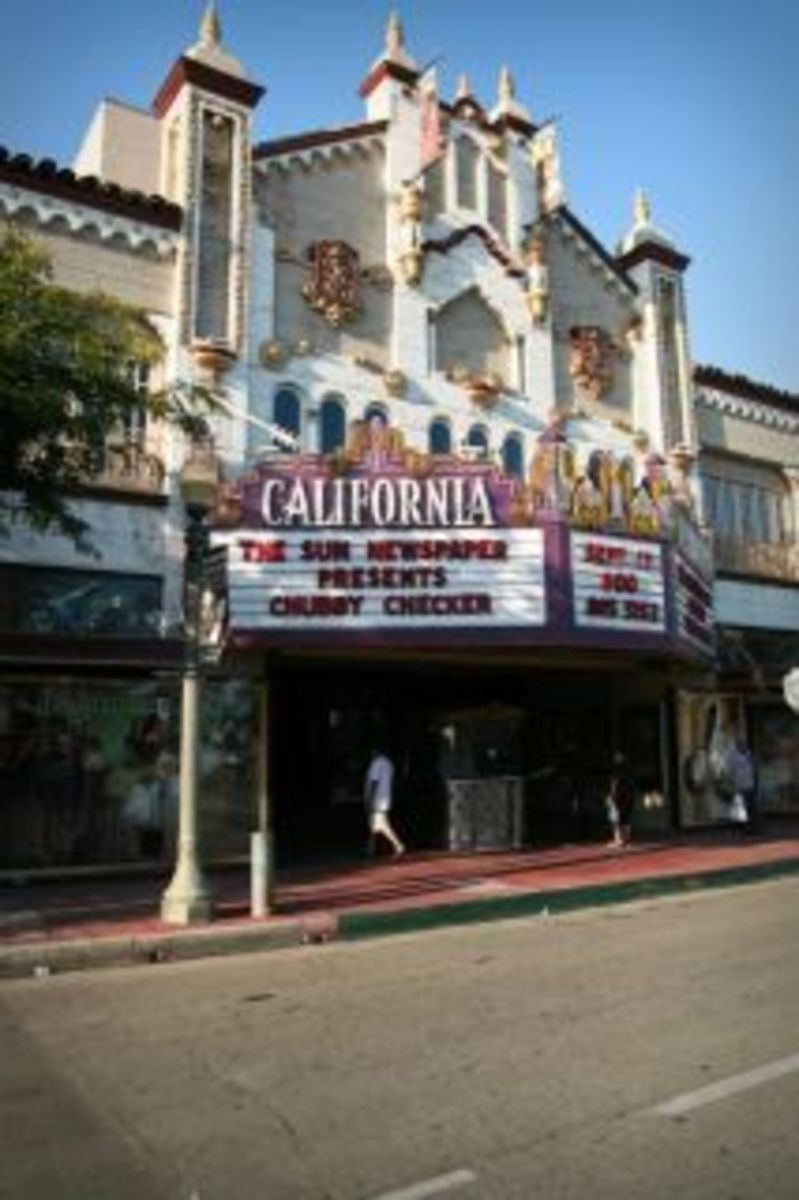 The California Theater across from The Enterprise Building
