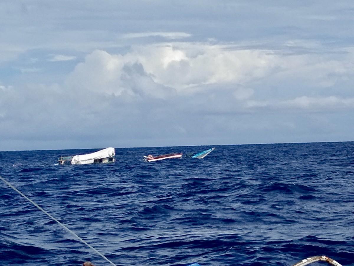 A Filipino fishing boat sunk by China.