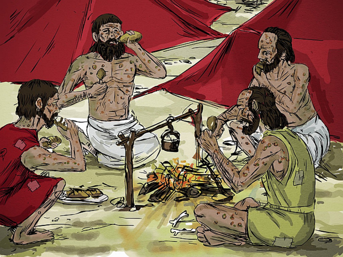 Four Lepers Eating and Drinking in the Aramean Camp