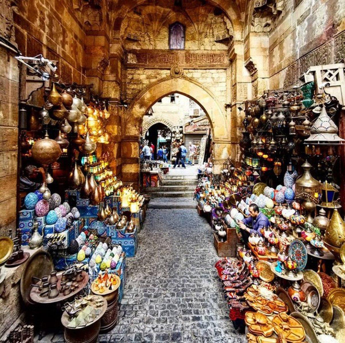 Bab al-Ghuri, Khan el-Khalili Bazaar, Cairo, Egypt.