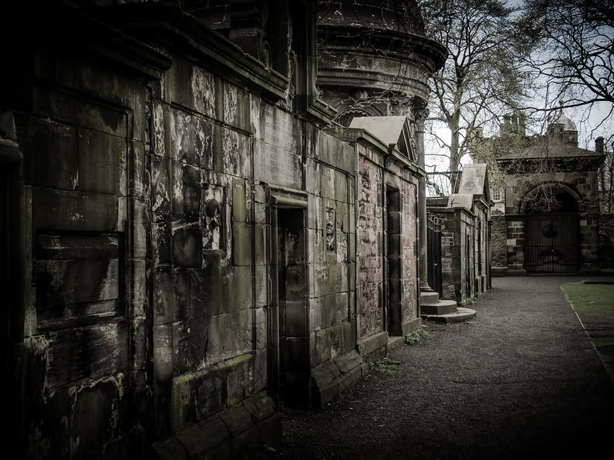 The Mackenzie Vault in Greyfriars  graveyard.