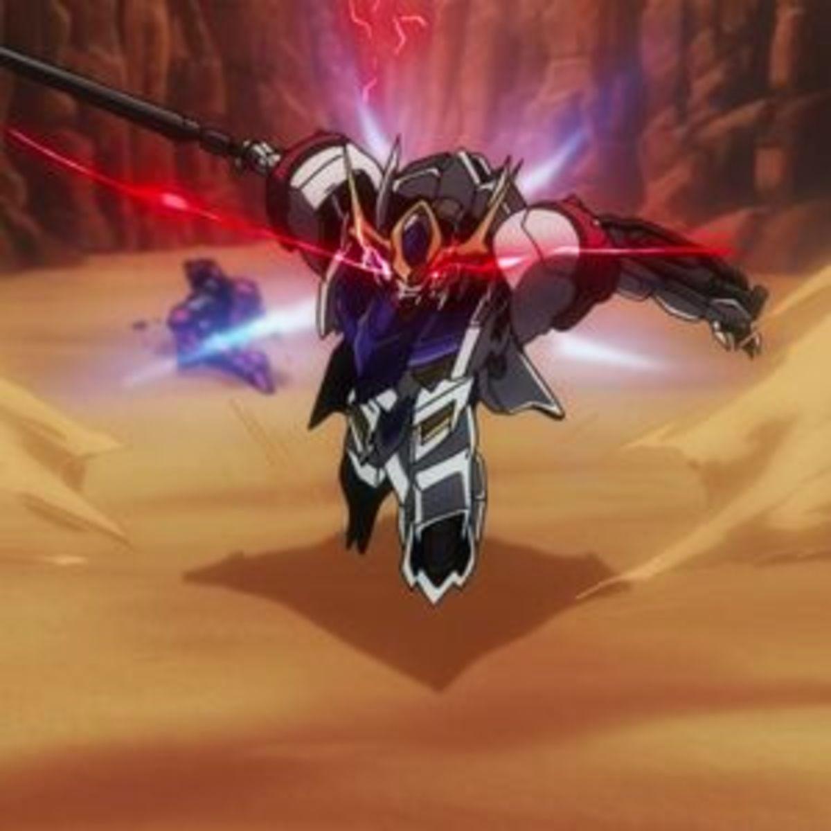 Gundam Barbatos Lupus Rex going berserk