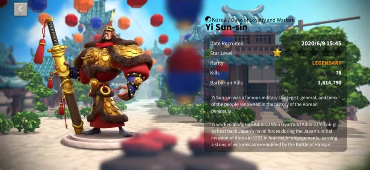 Yi Sun-Sin Profile Page