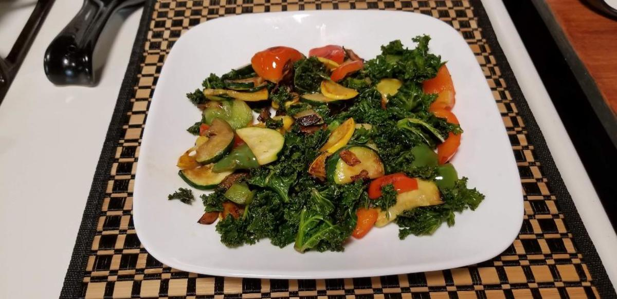 Kale is an excellent source of vitamin K. One cup of chopped cooked kale has more than eight times the daily requirement.