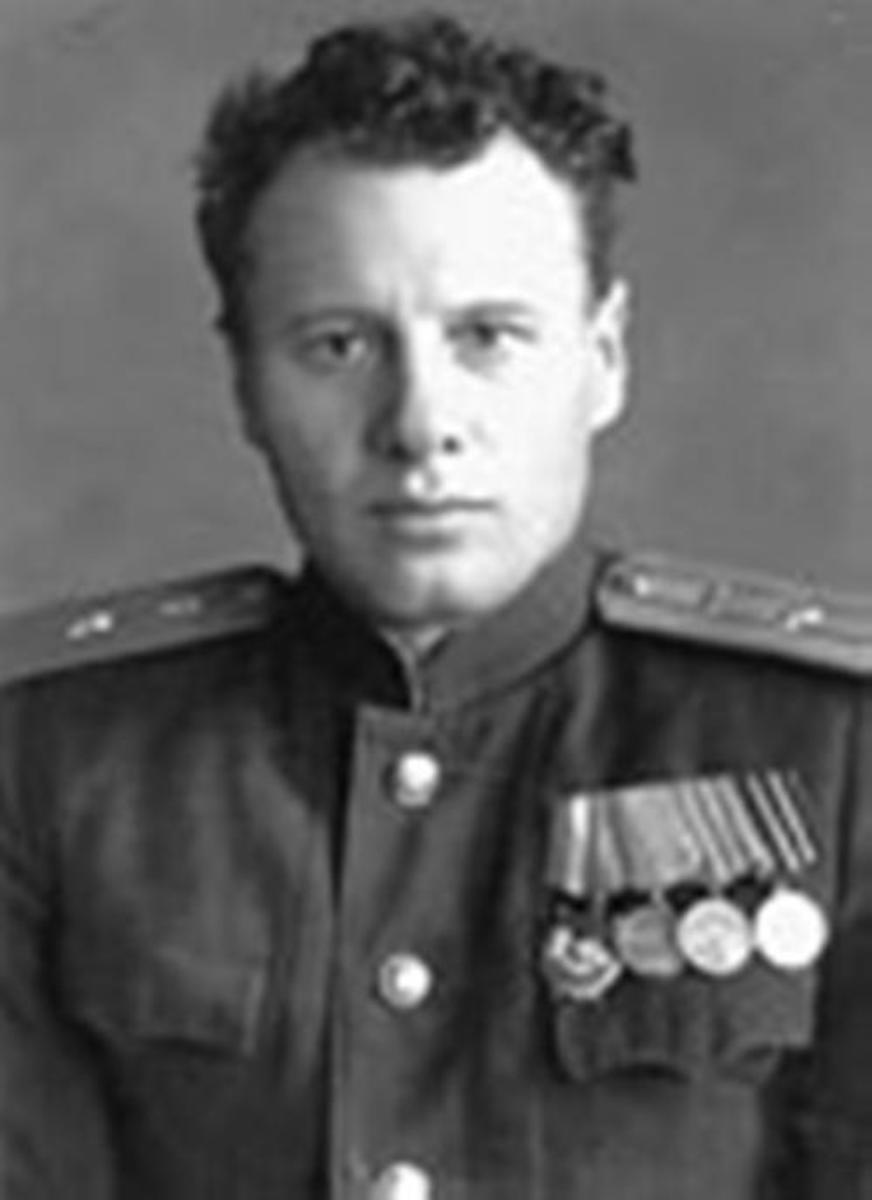 Russian Air Force Lt. Ivan Chisov in 1947