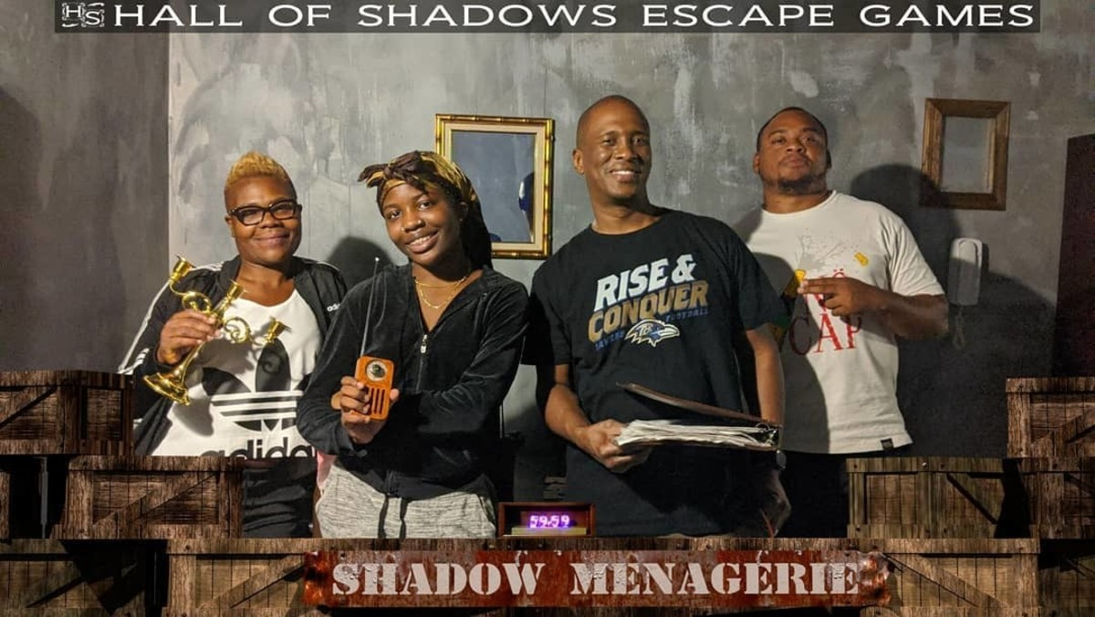The West Side Scrapers tried but failed to escape the evil forces inside the SHADOW MENAGERIE. #hallofshadows #escaperoom #shadowmeagerie #inlandempire