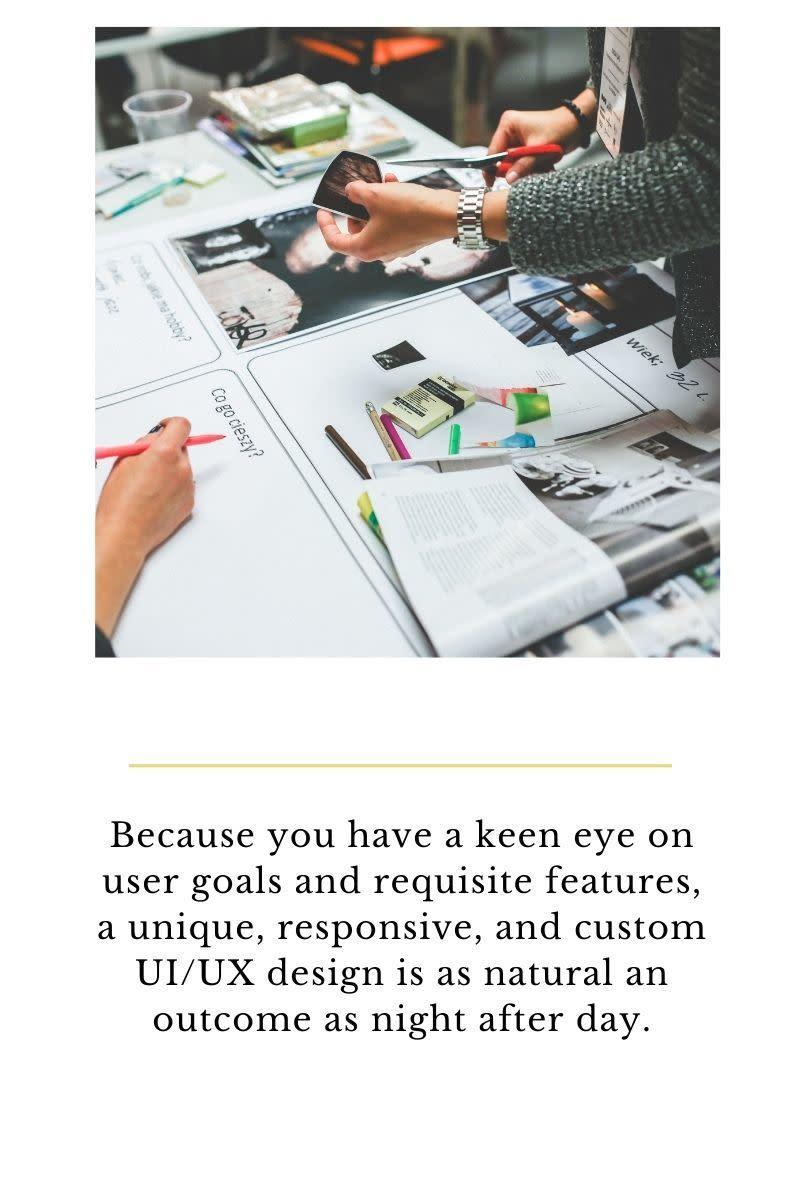 Responsive and Custom UI/UX Design