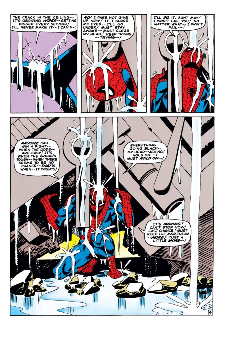 One of the most moving scenes in comic history from Steve Ditko's Spider-Man: If This Be My Destiny