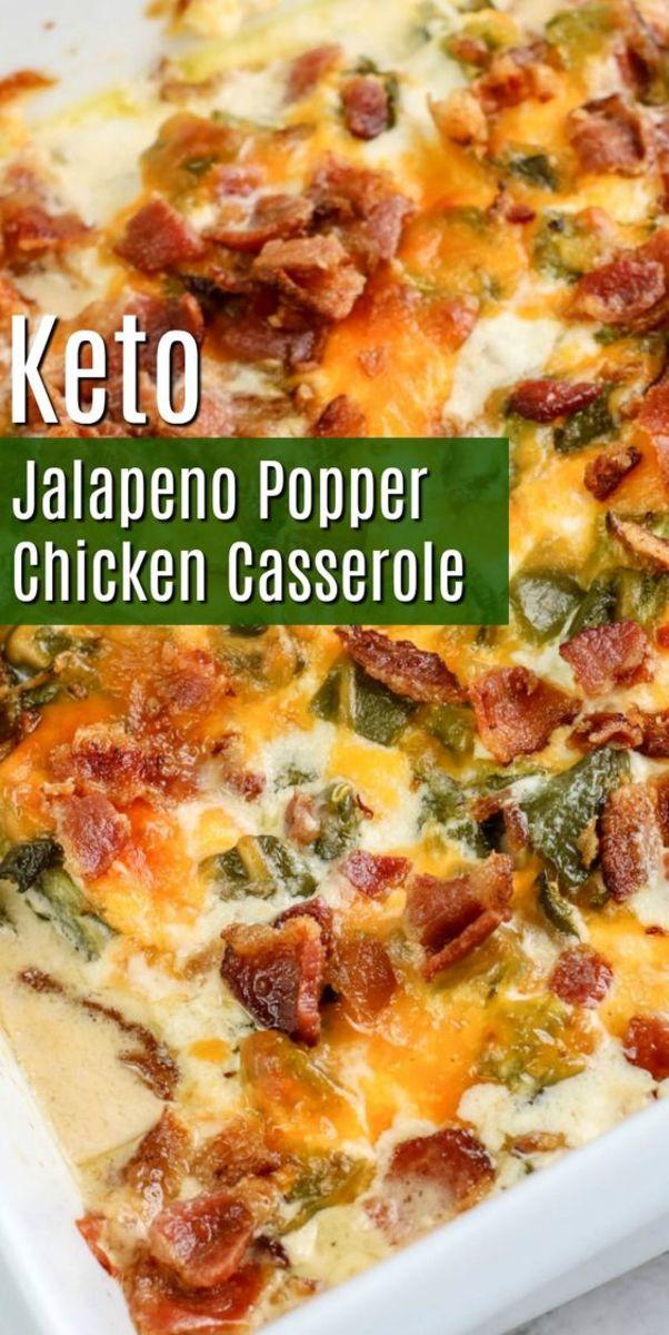 Jalapeno Popper Chicken Casserole by stylishcravings.com