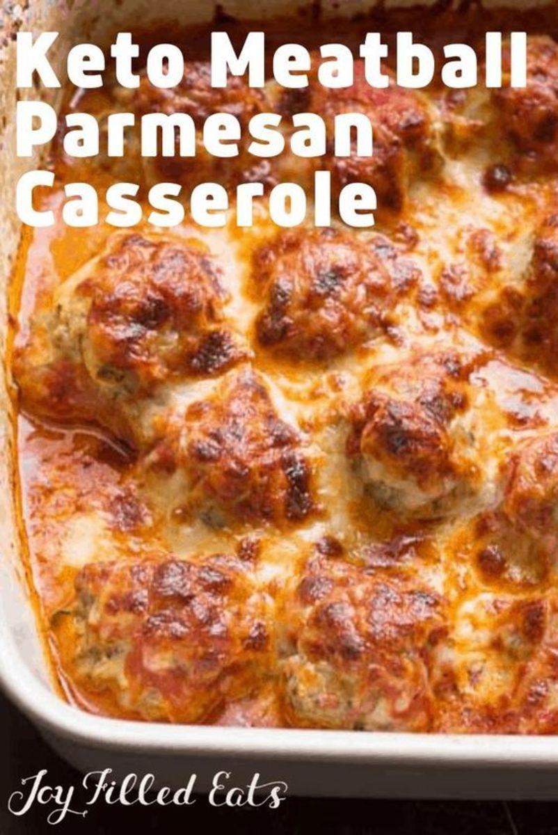 Keto Meatball Casserole by joyfilledeats.com