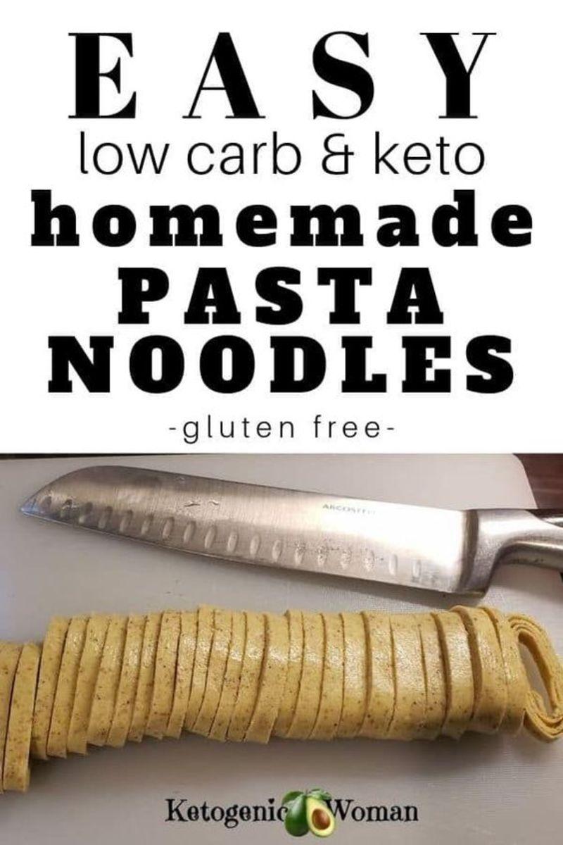 Low Carb Keto Homemade Pasta Noodles from ketogenicwoman.com