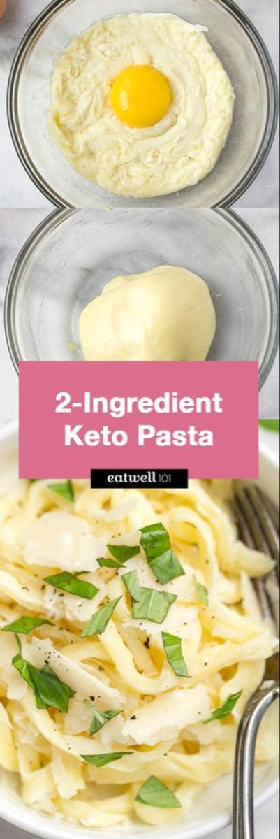 2 Ingredient Keto Pasta from eatwell101.com