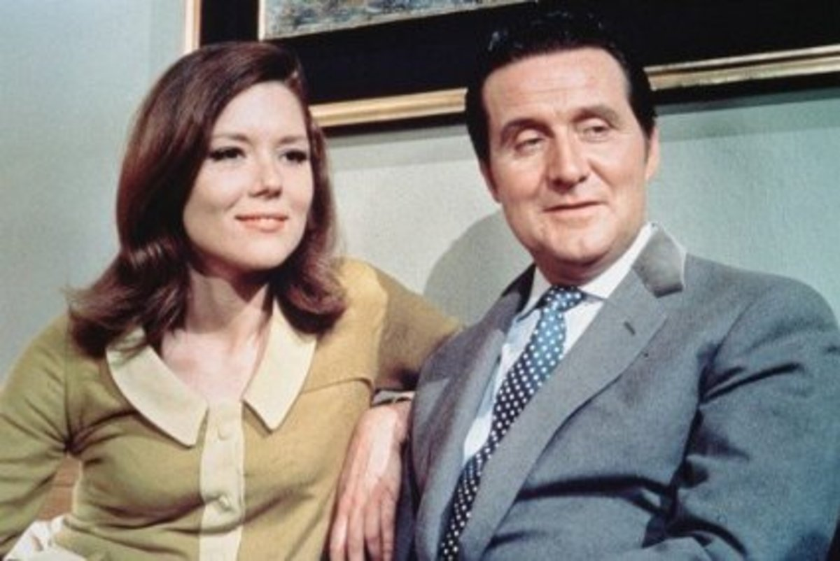 Emma Peel and John Steed