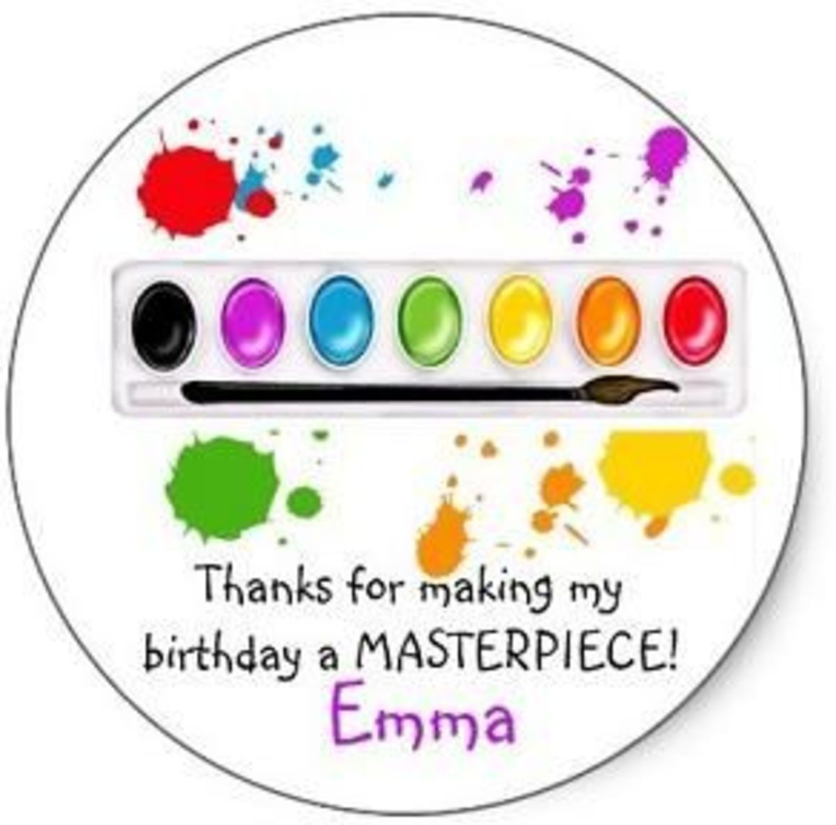 My Kids Birthday Parties:  Arts & Crafts Crayon Theme