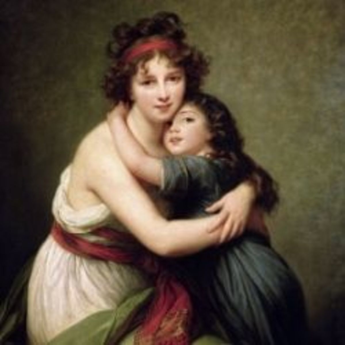 Madame Vigee-Lebrun and Her Daughter, Jeanne-Lucie-Louise (1780-1819) 1789 - by Elisabeth Louise Vigee-LeBrun.