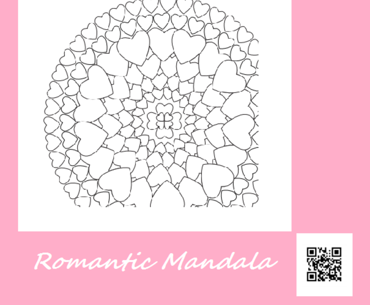 Romantic Mandala Coloring Sheet Printable