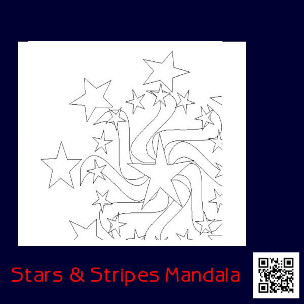 Patriotic MandalaDesign Coloring Page