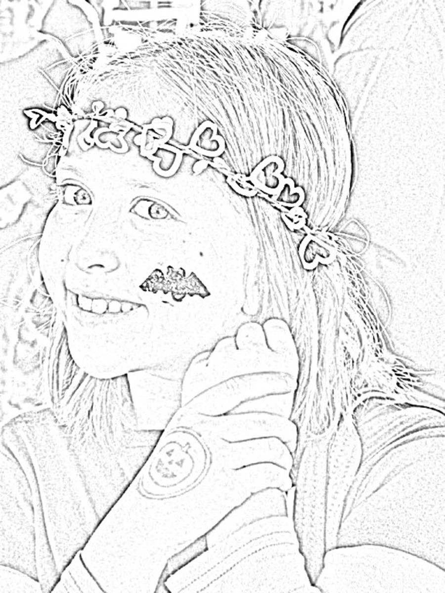 Line art created from a photo of my granddaughter when she was a child.