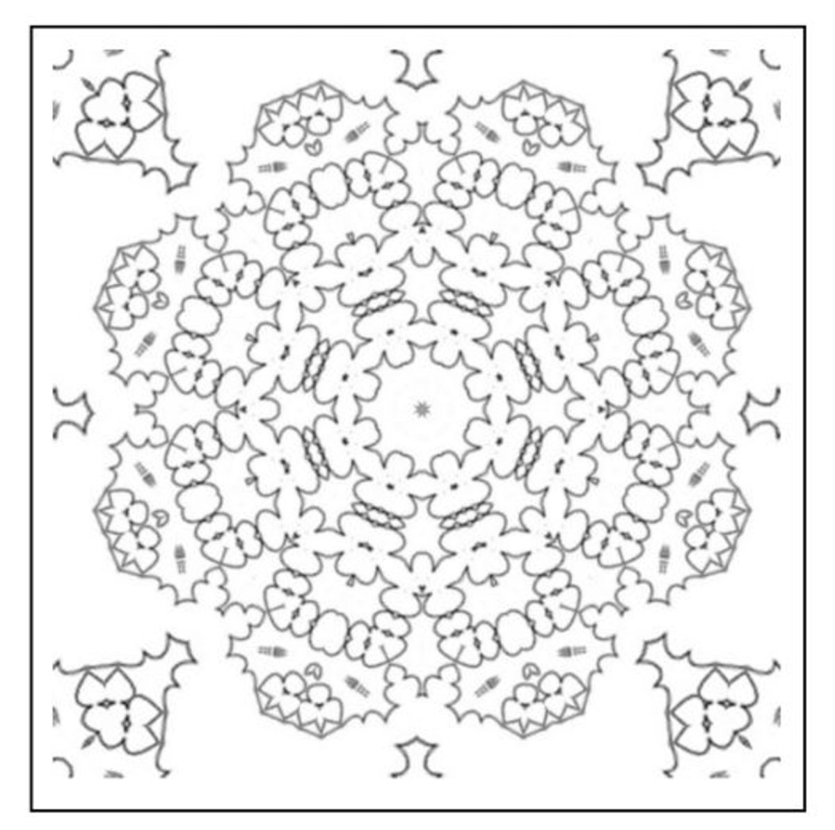 Computer generated mandala design printable