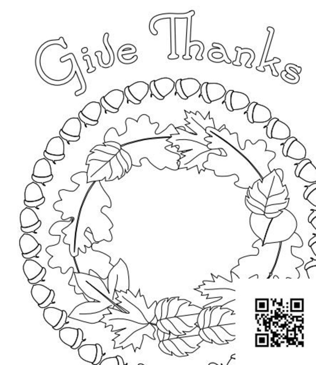 Seasonal mandalas can be mystical or they can bew whimsical like this Thanksgiving design.