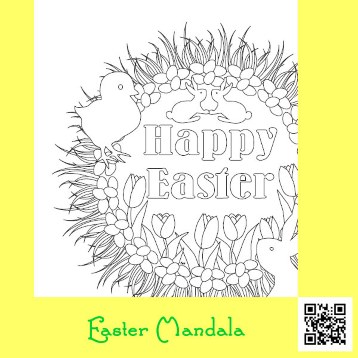 Easter Mandala Coloring Sheet Printable
